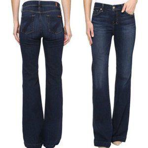 7 FOR ALL MANKIND Dojo Flare Jeans New York Dark
